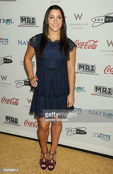 Olympic gymnast Aly Raisman attends the Gold Meets Gold Event held at the Equinox Sports Club Flagship West Los Angeles location on Saturday January...