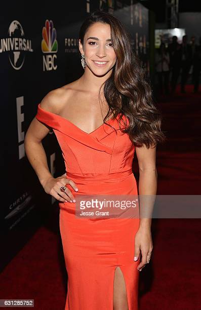 Olympic Gymnast Aly Raisman attends the Universal NBC Focus Features E Entertainment Golden Globes after party sponsored by Chrysler on January 8...