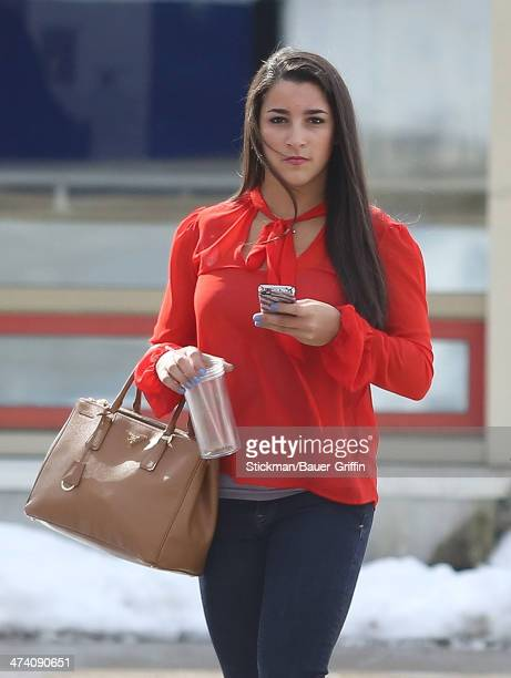 Olympic gymnast Aly Raisman is seen at Pollard Middle School in her hometown of Needham on March 11 2013 in Boston Massachusetts