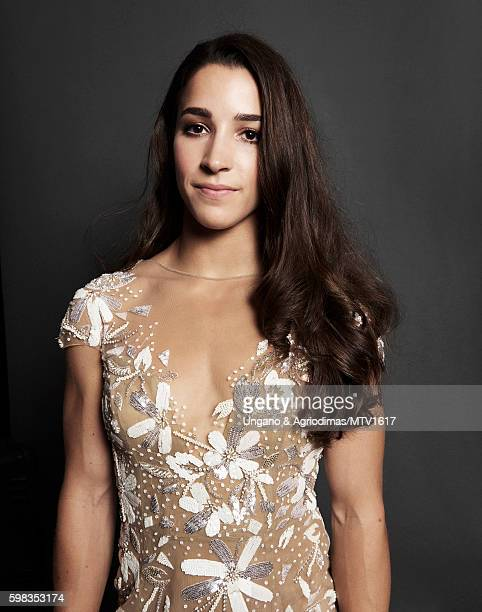 Olympic gymnast Aly Raisman poses for a portrait at the 2016 MTV Video Music Awards at Madison Square Garden on August 28 2016 in New York City