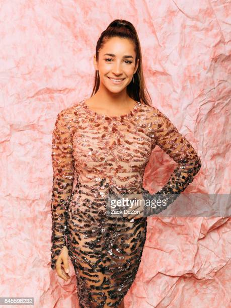 Olympic gymnast Aly Raisman poses for a portrait during the Daily Front Row's Fashion Media Awards at Four Seasons Hotel New York Downtown on...