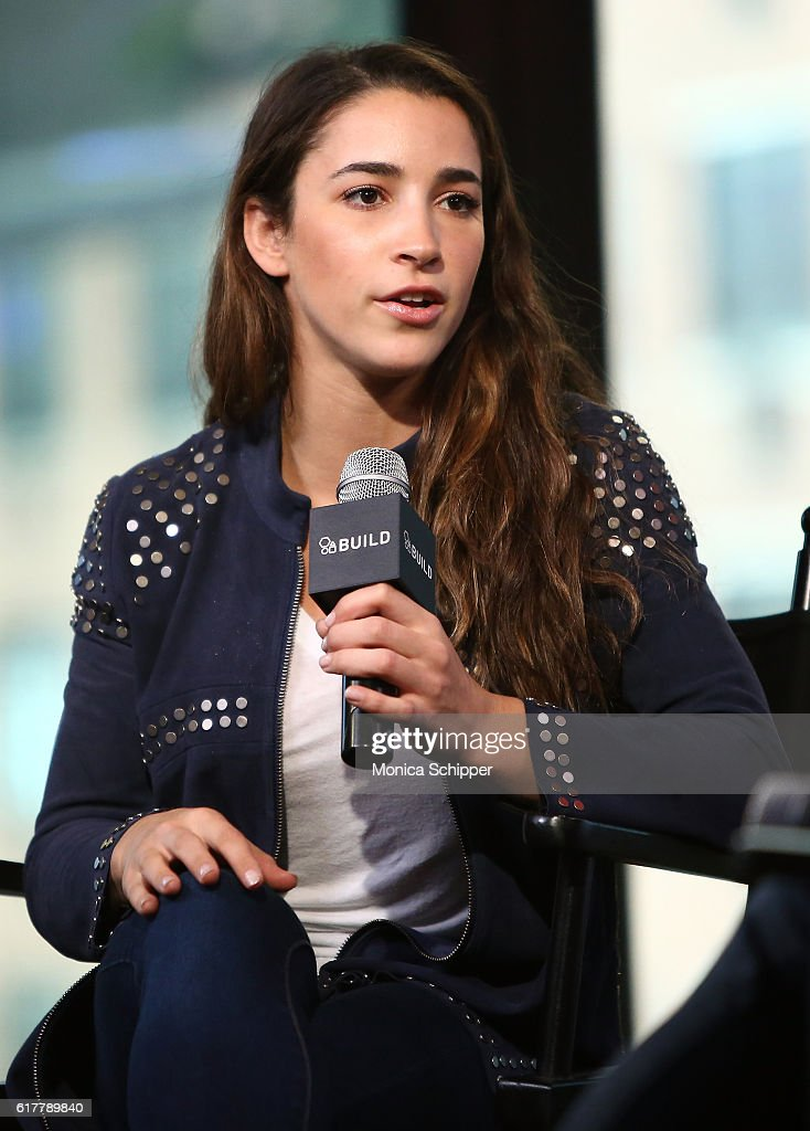 Olympic gymnast Aly Raisman speaks at The Build Series Presents Aly Raisman at AOL HQ on October 24, 2016 in New York City.