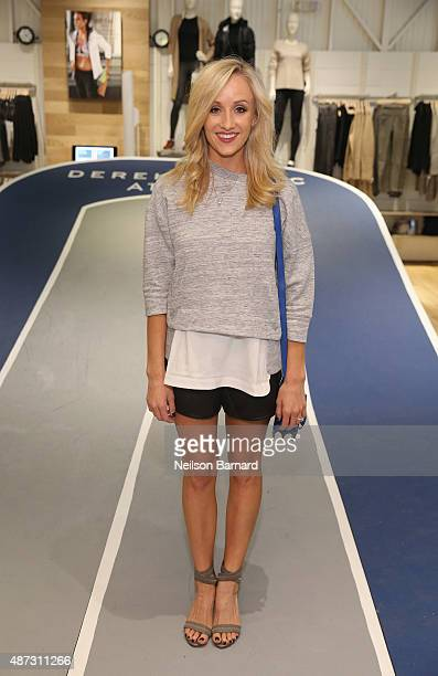 Olympic Gymnast and DWTS Finalist Nastia Liukin attends Derek Lam 10C Athleta launch party at Athleta's new Soho store on September 8 2015 in New...