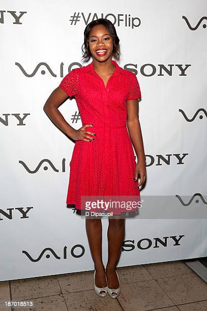 Olympic gymnast Gabby Douglas attends a meet and greet at the Sony Store on November 5 2013 in New York City