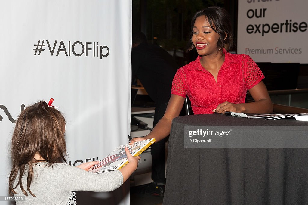 Olympic gymnast Gabby Douglas attends a meet and greet at the Sony Store on November 5, 2013 in New York City.