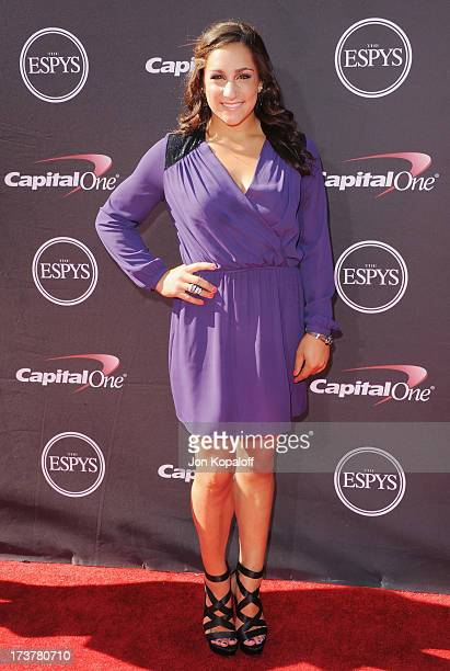 Olympic gymnast Jordyn Wieber arrives at The 2013 ESPY Awards at Nokia Theatre LA Live on July 17 2013 in Los Angeles California