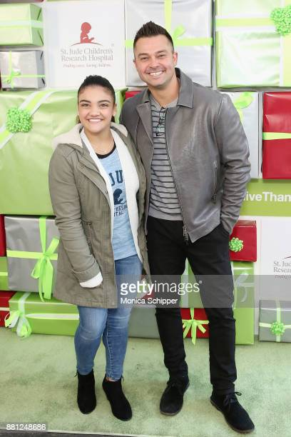 S Olympic gymnast Laurie Hernandez and MLB baseball player Nick Swisher attend as St Jude Children's Research Hospital hosts the #GiveThanks Holiday...