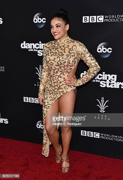 Olympic Gymnast Laurie Hernandez attends ABC's Dancing With The Stars Season 23 Finale at The Grove on November 22 2016 in Los Angeles California