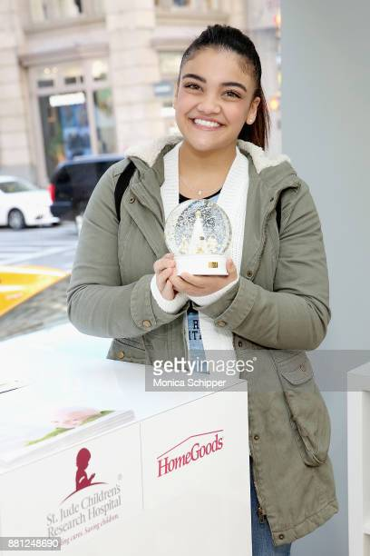 S Olympic gymnast Laurie Hernandez attends as St Jude Children's Research Hospital hosts the #GiveThanks Holiday PopUp for #GivingTuesday on November...