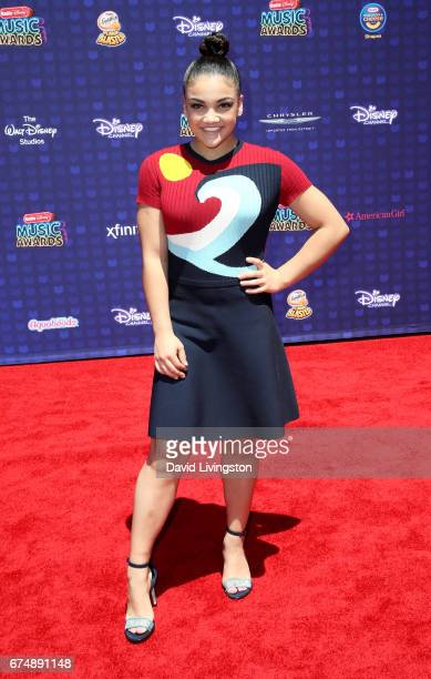 Olympic gymnast Laurie Hernandez attends the 2017 Radio Disney Music Awards at Microsoft Theater on April 29 2017 in Los Angeles California