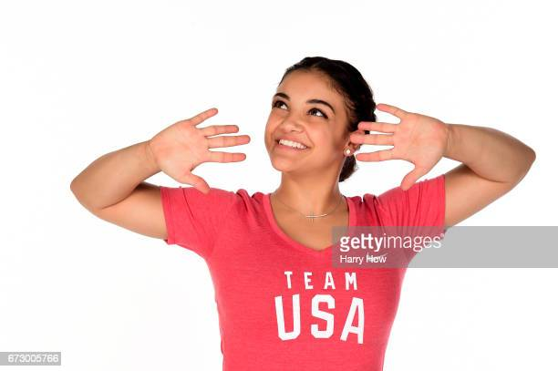 Olympic gymnast Laurie Hernandez poses for a portrait on April 25 2017 in West Hollywood California