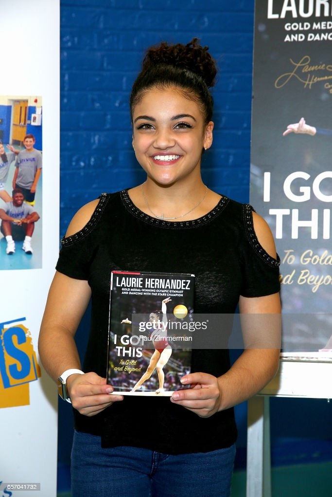 "Laurie Hernandez Signs Copies Of Her New Book ""I Got This: To Gold And Beyond"""