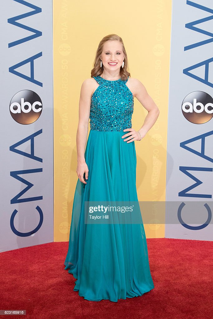 Olympic gymnast Madison Kocian attends the 50th annual CMA Awards at the Bridgestone Arena on November 2, 2016 in Nashville, Tennessee.