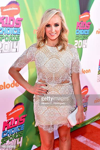 Olympic gymnast Nastia Liukin attends Nickelodeon Kids' Choice Sports Awards 2014 at UCLA's Pauley Pavilion on July 17 2014 in Los Angeles California