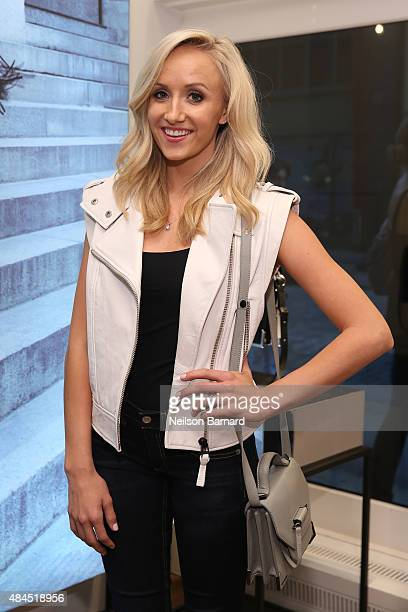 Olympic Gymnast Nastia Liukin attends the Mackage X Bradley Theodore presenting The Underground Artist curated art exhibition at Mackage Soho on...