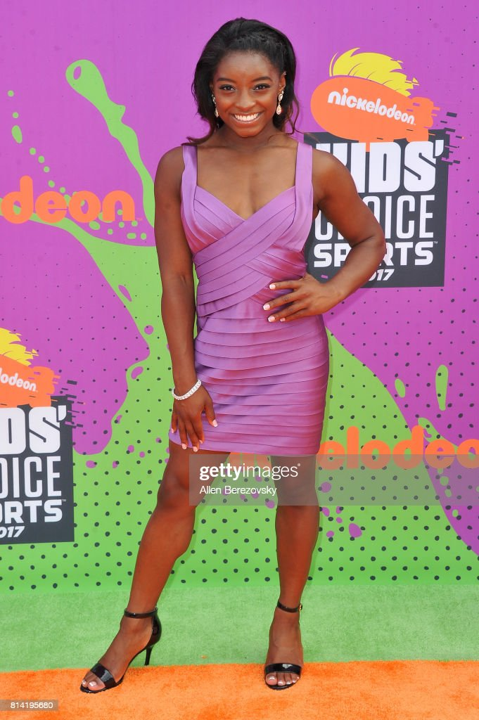 Olympic gymnast Simone Biles attends Nickelodeon Kids' Choice Sports Awards 2017 at Pauley Pavilion on July 13, 2017 in Los Angeles, California.