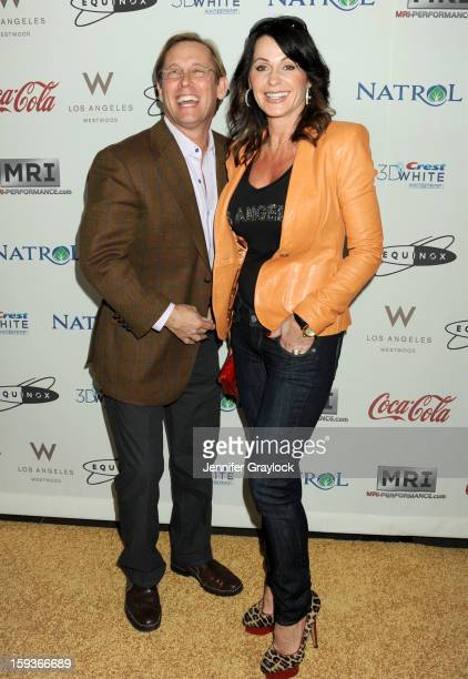 Olympic gymnasts Bart Conner and Nadia Comaneci attend the Gold Meets Gold Event, held at the Equinox Sports Club Flagship West Los Angeles location...