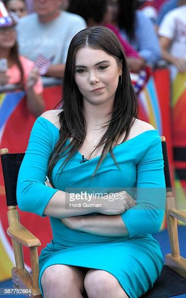 AMERICA Olympic Gymnasts Dominique Dawes and Mckayla Maroney are guests on Good Morning America 8/9/16 airing on the Walt Disney Television via Getty...