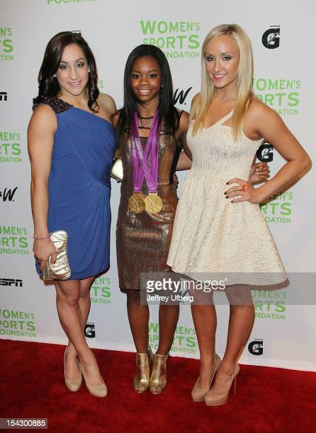 Olympic gymnasts Jordyn Wieber Gabrielle Douglas and Nastia Liukin attend the 33rd Annual Salute To Women In Sports Gala>> at Cipriani Wall Street on...