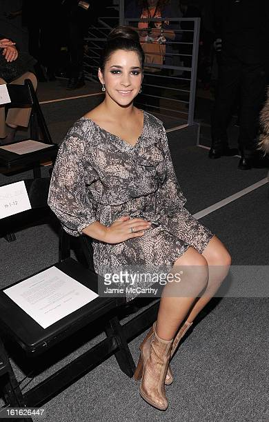 Olympic Gymnist Alexandra Raisman attends Rachel Zoe during Fall 2013 MercedesBenz Fashion Week at The Studio at Lincoln Center on February 13 2013...