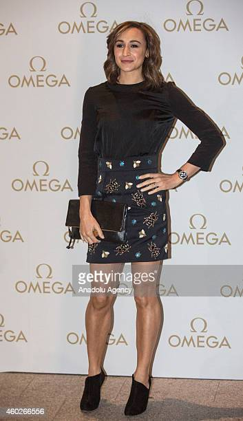 Olympic Heptahlete Jess Ennis-Hill attends a private dinner celebrating the opening of the OMEGA Oxford Street boutique at Aqua Shard on December 10,...