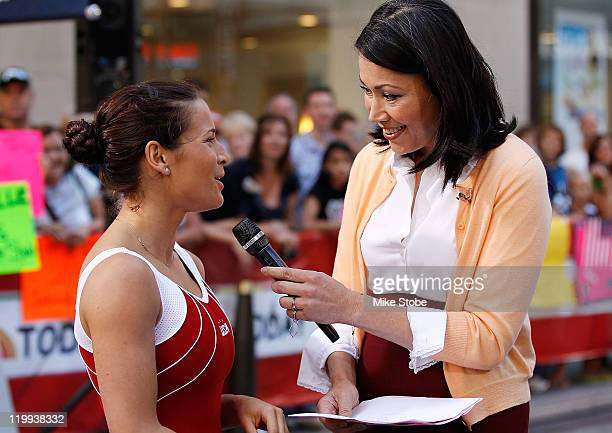 S Olympic Hopeful Alicia Sacramone is interviewed by TV Host Ann Curry during an appearance on the NBC Today Show on July 27 2011 in New York City
