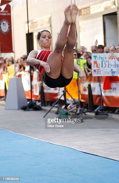 S Olympic Hopeful Alicia Sacramone performs during an appearance on the NBC Today Show on July 27 2011 in New York City