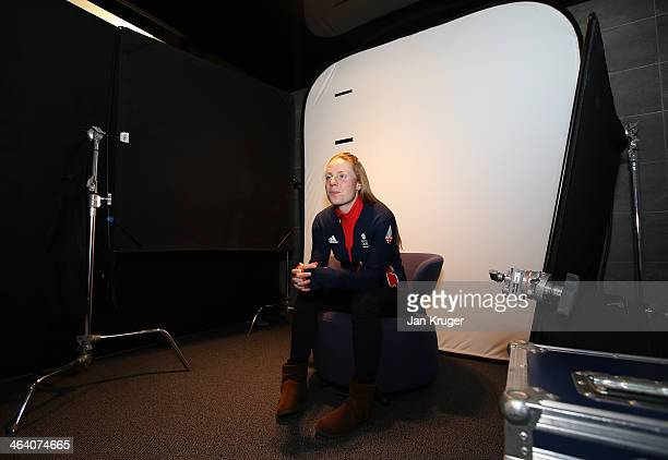 Olympic hopeful Posey Musgrave of Great Britain poses during the Team GB Kitting Out ahead of Sochi Winter Olympics on January 20 2014 in Stockport...