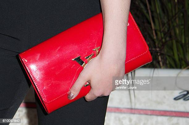 Olympic ice skater Gracie Gold, purse detail, attends the Teen Vogue Celebrates 14th Annual Young Hollywood Issue at the Reel Inn on September 23,...