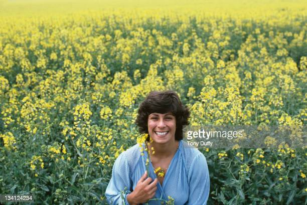 Olympic javelin medallist Fatima Whitbread of Great Britain poses during photo session on 1st May 1982 in London United Kingdom