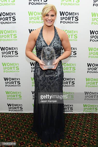 Olympic Judoka Kayla Harrison receives the Wilma Rudolph Courage Award at the 33rd annual Salute To Women In Sports Gala at Cipriani Wall Street on...