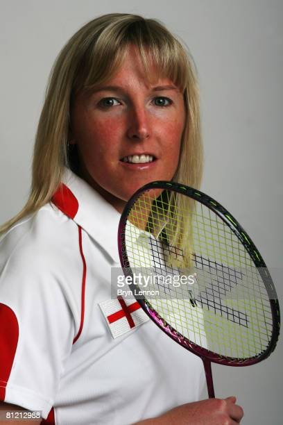 Olympic Ladies Singles playerTracey Hallam poses for a photo prior to a training session at the National Badminton Centre on May 22 2008 in Milton...