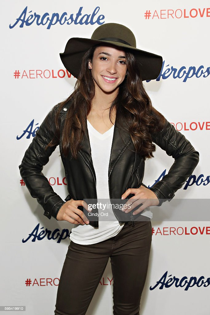 Aly raisman for aeropostale photos and images getty images olympic medalist aly raisman takes part in a fan meet and greet during a promotion for m4hsunfo