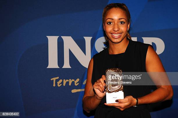Olympic medalist boxer Estelle Mossely poses at the 9th annual Champions Soiree held at INSEP on December 7 2016 in Paris France The reception is an...