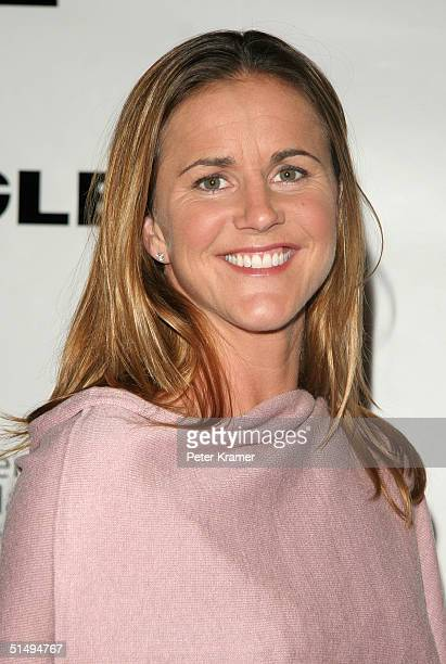 Olympic Medalist Brandi Chastain attends the Women's Sports Foundation 25th annual salute to women in sports awards dinner on October 18 2004 in New...