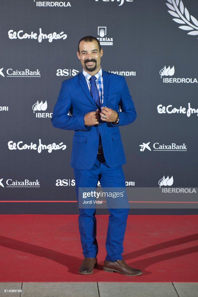 Olympic Medalist Gervasio attends the photocall Deferr during the Homage to Spanish Olympic Medalists at Museu Nacional d'Art de Catalunya on July 13, 2017 in Barcelona, Spain.