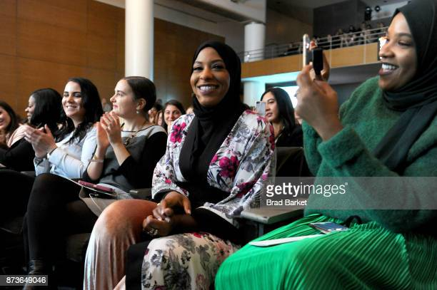 S Olympic Medalist Ibtihaj Muhammad attends Glamour Celebrates 2017 Women Of The Year Live Summit at Brooklyn Museum on November 13 2017 in New York...