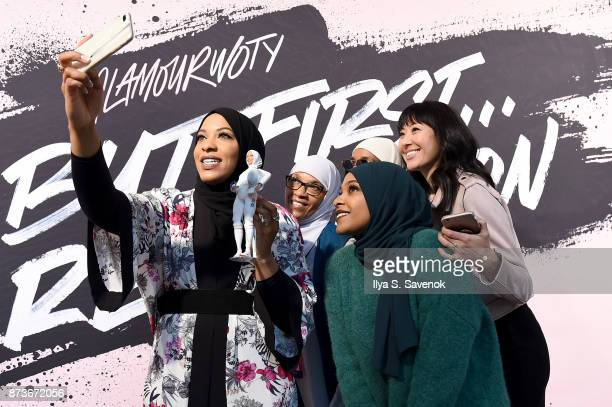 Olympic Medalist Ibtihaj Muhammad poses for a selfie during Glamour Celebrates 2017 Women Of The Year Live Summit at Brooklyn Museum on November 13...