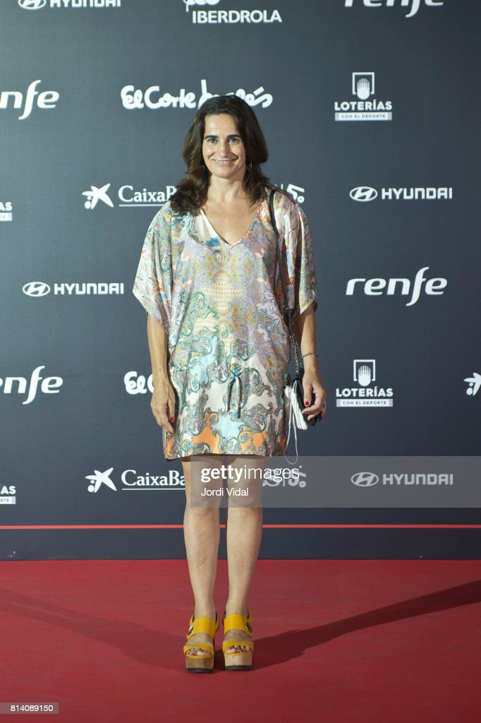 Olympic Medalist Isabel Fernandez attends the photocall during the Homage to Spanish Olympic Medalists at Museu Nacional d'Art de Catalunya on July 13, 2017 in Barcelona, Spain.