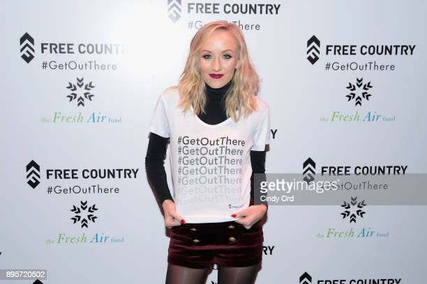 Olympic Medalist Nastia Liukin attends the Free Country and The Fresh Air Fund Partnership Celebration at The Rink at Bryant Park on December 19 2017...