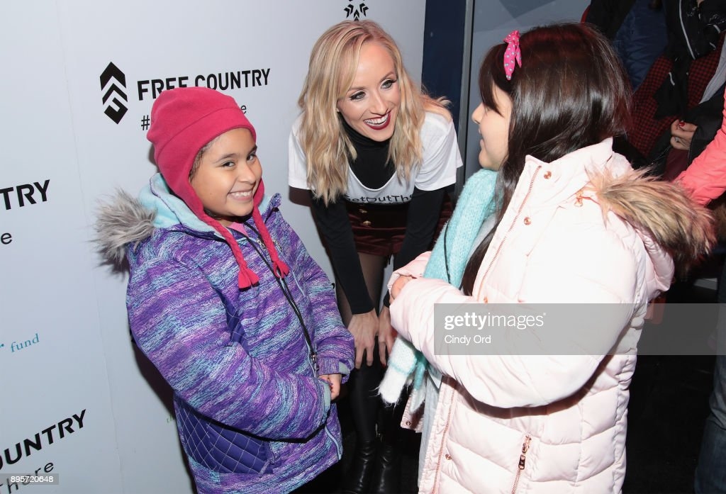 Olympic Medalist Nastia Liukin attends the Free Country and The Fresh Air Fund Partnership Celebration at The Rink at Bryant Park on December 19, 2017 in New York City.