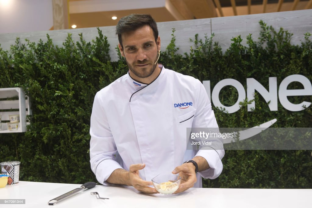 Saul Craviotto Attends Danone Event At Alimentaria Fair
