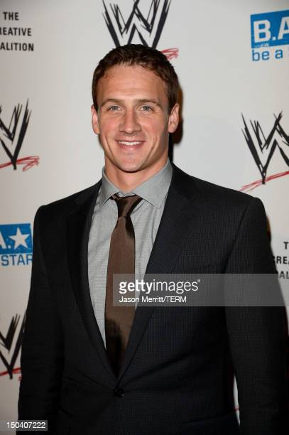 Olympic Medalist swimmer Ryan Lochte attends the WWE SummerSlam VIP Kick-Off Party at Beverly Hills Hotel on August 16, 2012 in Beverly Hills,...