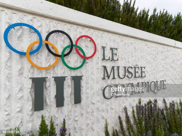 olympic museum at lausanne, switzerland - lausanne stock pictures, royalty-free photos & images