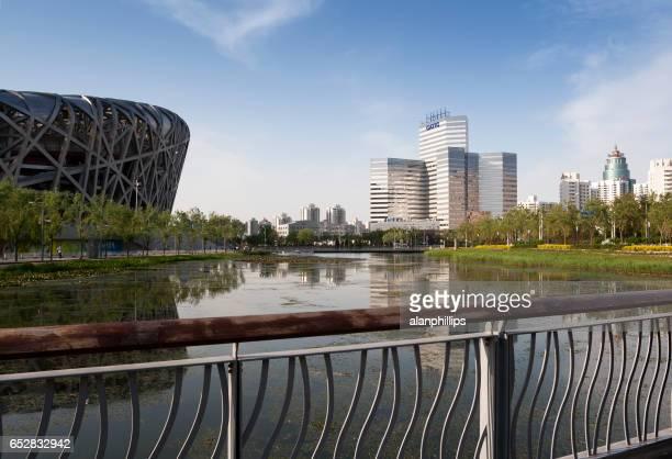 olympic park in beijing - china - stadio olimpico nazionale foto e immagini stock