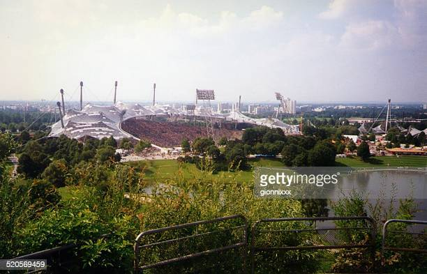 olympiapark in munich, germany - bayern munich football stock pictures, royalty-free photos & images