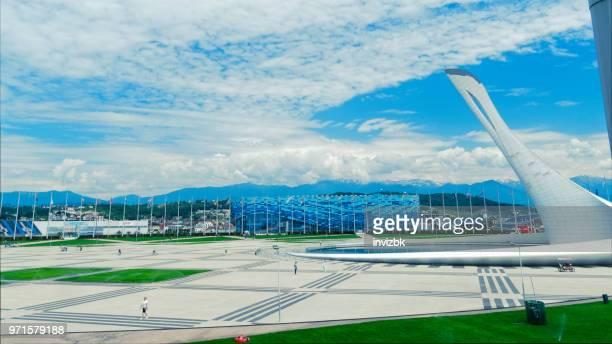 parc olympique de sotchi - parc olympique lieu photos et images de collection
