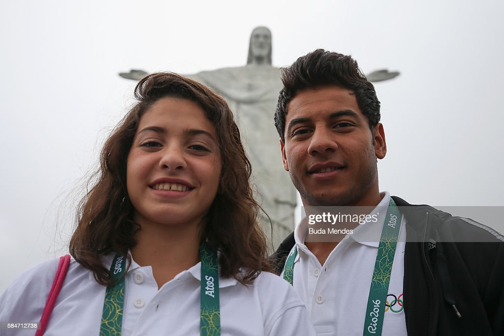 Olympics - Refugee Olympic Team visit Christ the Redeemer Statue