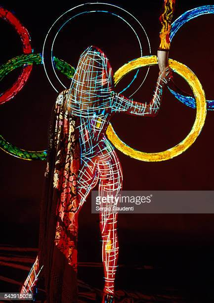 Olympic Rings and flame