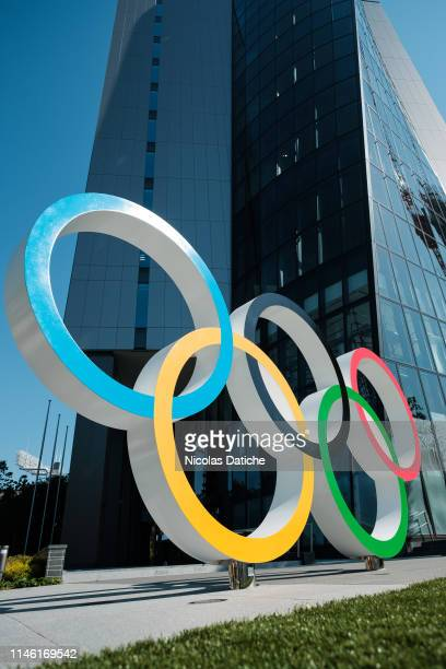 Olympic rings are displayed at Japan Sport Olympic Square near Olympic Stadium. Japan will host the Tokyo 2020 Summer Olympics from July 24 to August...